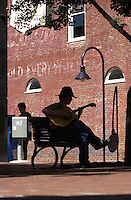 play guitar on downtown mall