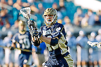 February 20, 2011:  Notre Dame midfield Liam O'Connor (48) during Lacrosse action between the Duke Blue Devils and Notre Dame Fighting Irish during the Moe's Southwest SunShine Classic played at EverBank Field in Jacksonville, Florida. Notre Dame defeated Duke 12-7.