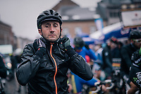the unstopable Davide Rebellin (ITA/Sovac - Natura4Ever) starting yet another race in his 26th (!!!) year as a pro rider...<br /> <br /> 2018 Binche - Chimay - Binche / Memorial Frank Vandenbroucke (1.1 Europe Tour)<br /> 1 Day Race: Binche to Binche (197km)