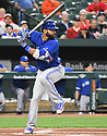 Toronto Blue Jays Jose Bautista (19) during a game against the Baltimore Orioles on April 5, 2017 at Oriole Park at Camden Yards in Baltimore, MD. The Orioles beat the Blue Jays 3-1.