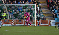 Barry Richardson of Wycombe Wanderers in possession during the Sky Bet League 2 match between Plymouth Argyle and Wycombe Wanderers at Home Park, Plymouth, England on 30 January 2016. Photo by Mark  Hawkins / PRiME Media Images.
