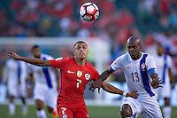 Action photo during the match Chile vs Panama, Corresponding to Group -D- America Cup Centenary 2016 at Lincoln Financial Field.<br /> <br /> Foto de accion durante el partido Chile vs Panama, Correspondiente al Grupo -D- de la Copa America Centenario 2016 en el  Lincoln Financial Field, en la foto: (i-d) Alexis Sanchez de Chile y Adolfo Machado de Panama<br /> <br /> <br /> 14/06/2016/MEXSPORT/Javier Ramirez.