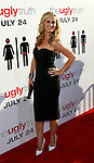 """HOLLYWOOD, CA. - July 16: Bonnie Somerville arrives at the Los Angeles premiere of """"The Ugly Truth"""" held at the Pacific's Cinerama Dome on July 16, 2009 in Hollywood, California."""