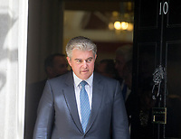Minister of State for Immigration Brandon Lewis leaves the cabinet meeting at 10 Downing street