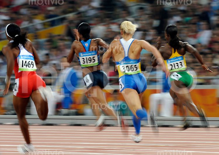 Olympia 2008  Peking   20.08.2008 Leichtathletik 200 Meter Damen Feature Sprint.