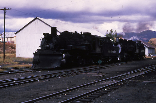 D&amp;RGW #487 and #497 on the Chama ready track.<br /> D&amp;RGW  Chama, NM