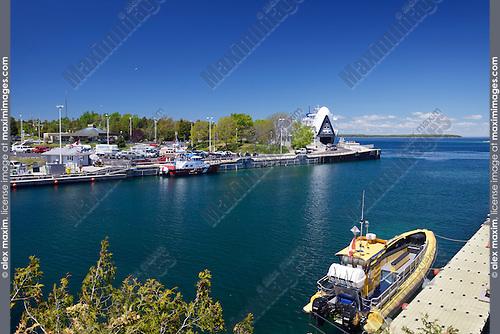 Tobermory harbour summertime scenic, Ontario, Canada 2014