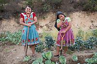 Rosa Garcia Hernandez at her organic farm in San Miguel del Valle, Tlacolula, Oaxaca