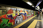 Italy, Rome, November 2, 2011..Metroi train station in Rome November2 , 2011. VIEWpress / Eduardo Munoz Alvarez..Rome is the capital of Italy and the country's largest and most populated city and comune, with over 2.7 million residents in 1,285.3 km2 (496.3 sq mi). The city is located in the central-western portion of the Italian Peninsula, on the Tiber River within the Lazio region of Italy.