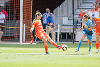 Houston, TX - Saturday May 13, Houston Dash midfielder Morgan Brian (6), Sky Blue FC midfielder Sarah Killion (16) during a regular season National Women's Soccer League (NWSL) match between the Houston Dash and Sky Blue FC at BBVA Compass Stadium. Sky Blue won the game 3-1.