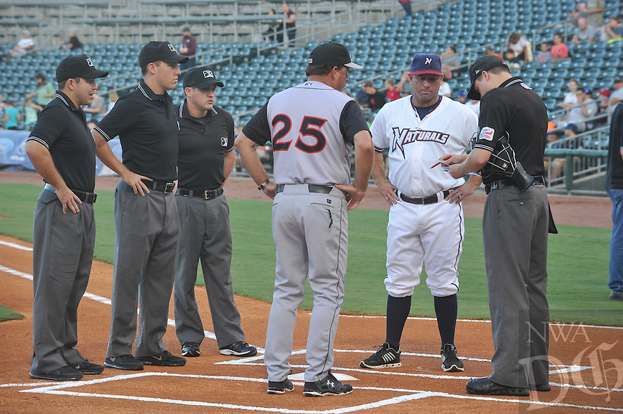 NWA Democrat-Gazette/MICHAEL WOODS &bull; @NWAMICHAELW<br /> Arkansas Travelers vs the Northwest Arkansas Naturals Wednesday September 9, 2015,  at Arrest Ballpark in Springdale.