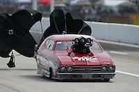 Apr 24, 2015; Baytown, TX, USA; NHRA pro mod driver Doug Winters during the Spring Nationals at Royal Purple Raceway. Mandatory Credit: Mark J. Rebilas-