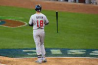 22 March 2009: #18 Ryan Braun of USA is dejected and throws his bat after being called on strikes during the 2009 World Baseball Classic semifinal game at Dodger Stadium in Los Angeles, California, USA. Japan wins 9-4 over Team USA.
