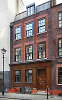 Architect Chris Dyson has achieved the ultimate conceit - the transformation of a 1960s building in Spitalfields into the appearance of an original Georgian terraced house
