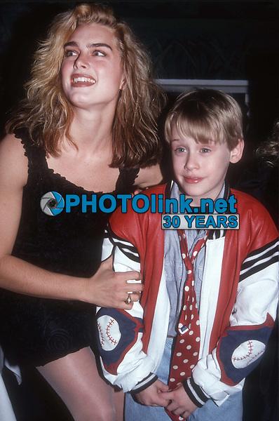Brooke Shields McCauley Culkin 1991<br /> Photo By John Barrett/PHOTOlink.net
