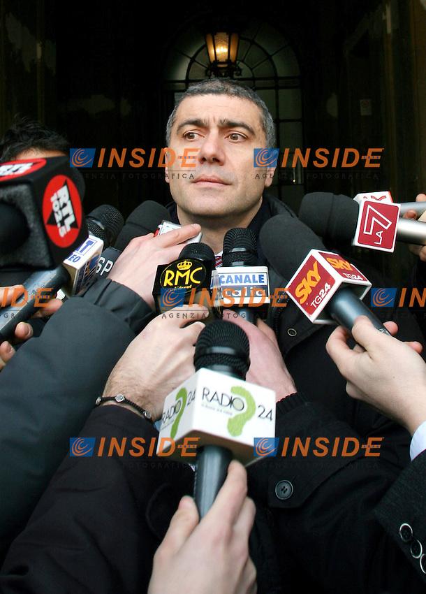 Roma 26 01 2006 Vertice dell'Unione<br /> Nella foto il leader dei Verdi Alfonso Pecoraro Scanio<br /> Photo Serena Cremaschi Insidefoto