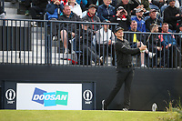 Justin Rose (ENG) during Round One of the 148th Open Championship, Royal Portrush Golf Club, Portrush, Antrim, Northern Ireland. 18/07/2019. Picture David Lloyd / Golffile.ie<br /> <br /> All photo usage must carry mandatory copyright credit (© Golffile | David Lloyd)