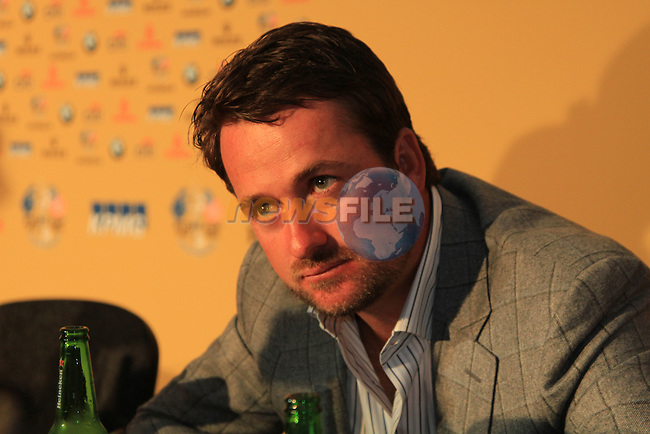 Graham McDowell at Europes press conference after winning the Ryder Cup at the Celtic Manor, Newport, Wales, 4th October 2010..Picture Manus O'Reilly/www.golffile.ie