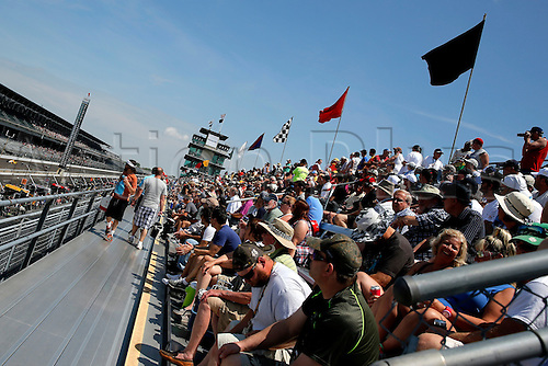 27.05.2016. Indianapolis, IN, USA.  Fans prepare for Indycar practice on the inside straight away during Carb Day for the 100th running of the Indianapolis 500 in Speedway, IN.