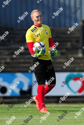 2014-07-26 / Voetbal / seizoen 2014-2015 / Berchem Sport / Jelle Merckx<br /><br />Foto: mpics.be