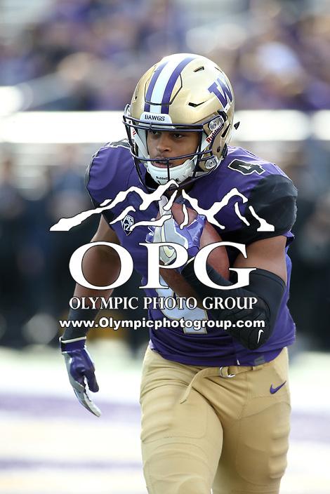 22 October 2016:  Washington's Austin Joyner against Oregon State. Washington defeated Oregon State 41-17 at the University of Washington in Seattle, WA.