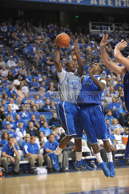 Freshman Doron Lamb shoots the ball during the UK mens basketball Blue/White scrimmage. Photo by Mike Weaver | Staff