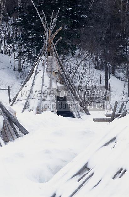 Amérique/Amérique du Nord/Canada/Quebec/Fjord du Saguenay/Village Huron (amérindiens) : Site archéologique de Robe Noire