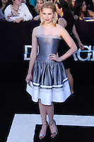"WESTWOOD, LOS ANGELES, CA, USA - MARCH 18: Claudia Lee at the World Premiere Of Summit Entertainment's ""Divergent"" held at the Regency Bruin Theatre on March 18, 2014 in Westwood, Los Angeles, California, United States. (Photo by David Acosta/Celebrity Monitor)"