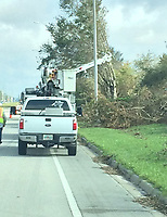 2017 FPL Hurricane Irma restoration in Collier County, Fla. on Sept. 14, 2017.