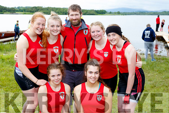 The Fossa crew at the  Killarney Regatta on Sunday front row l-r: Beth Coffey, Roisin Murphy. Back row: Ellen Sheehan, Aoife Doody, Donal Daly, Sarah Doody, Rebecca O'Connell