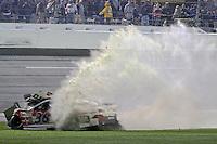 Reed Sorenson crashes late in the Daytona 500, Daytona INternational Speedway, February 23, 2014. (Photo by Brian Cleary/www.bcpix.com)