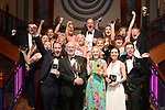 St Agnes Choral Society, Belfast pictured enjoying at the Association of Irish Musical Societies annual awards in the INEC, KIllarney at the weekend where Kerry Rooney won the Best Comedian award for his role as Bill Snibson in Me &amp; My Girl.<br /> Photo: Don MacMonagle -macmonagle.com<br /> <br /> <br /> <br /> repro free photo from AIMS<br /> Further Information:<br /> Kate Furlong AIMS PRO kate.furlong84@gmail.com