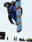 2011 FIS Snowboard World Cup  Championships , halfpipe qualification men's, La Molina. Picture show Benjamin Farrow  USA FIS SNOWBOARD WORLD CHAMPIONS LA MOLINA