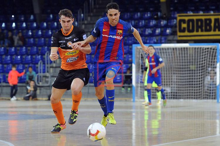 League LNFS 2016/2017 - Game 6.<br /> FC Barcelona Lassa vs Aspil Vidal Ribera Navarra: 7-1.<br /> Luisma vs Aicardo.