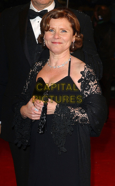 IMELDA STAUNTON .The 2006 Orange British Academy Film Awards, Odeon Leicester Square, London, UK..February 19th, 2006.Ref: BEL.half length black dress bafta baftas.www.capitalpictures.com.sales@capitalpictures.com.© Capital Pictures.