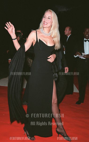 20MAY99: Model JERRY HALL at the 6th annual Cinema Against AIDS Gala in Cannes to benefit the American Foundation for AIDS Research (AmFAR)..© Paul Smith / Featureflash