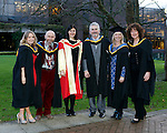REPRO FREE<br /> 21/01/2015<br /> Hazel Hodgins, Brian Fleming, Niamh Nic Ghabhann, Pat Marnane, Debbie Wright and Monica Spencer, First Graduates of the first ever MA in Festival Arts, Irish World Academy of Music and Dance at the University of Limerick pictured as the University of Limerick continues three days of Winter conferring ceremonies which will see 1831 students conferring, including 74 PhDs. <br /> UL President, Professor Don Barry highlighted the increasing growth in demand for UL graduates by employers and the institution&rsquo;s position as Sunday Times University of the Year. <br /> Picture: Don Moloney / Press 22