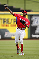 July 10, 2009:  Left Fielder Domingo Santana (13) of the GCL Phillies during a game at Bright House Networks Field in Clearwater, FL.  The GCL Phillies are the Gulf Coast Rookie League affiliate of the Philadelphia Phillies.  Photo By Mike Janes/Four Seam Images