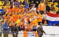 07-04-13, Tennis, Rumania, Brasov, Daviscup, Rumania-Netherlands, Dutch orange supporters