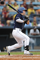 Asheville Tourists left fielder Corey Dickerson #23 swings at a pitch during a game against the Rome Braves at McCormick Field on June 23, 2011 in Asheville, North Carolina.  The Tourists won the game 10-4.  (Tony Farlow/Four Seam Images)