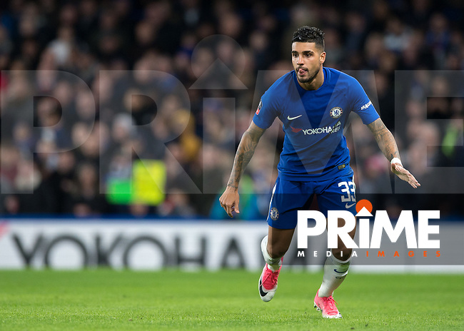 Emerson of Chelsea during the FA Cup 5th round match between Chelsea and Hull City at Stamford Bridge, London, England on 16 February 2018. Photo by Vince  Mignott / PRiME Media Images.