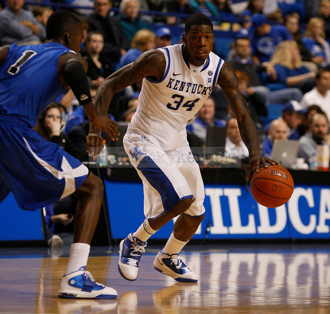 DeAndre Liggins during the University of Kentucky Wildcats game against Dillard University at Rupp Arena on November 5, 2010.  Photo by Latara Appleby | Staff