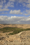 Israel, Southern Hebron Mountain, Tel Yatir site of Biblical Yatir