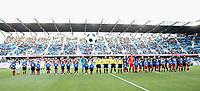 San Jose, CA - Saturday May 19, 2018: D.C. United, San Jose Earthquakes  during a Major League Soccer (MLS) match between the San Jose Earthquakes and D.C. United at Avaya Stadium.