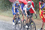 David De La Cruz (ESP) Team Sky in action during a wet Stage 11 of the La Vuelta 2018, running 207.8km from Mombuey to Ribeira Sacra. Luintra, Spain. 5th September 2018.<br /> Picture: Unipublic/Photogomezsport | Cyclefile<br /> <br /> <br /> All photos usage must carry mandatory copyright credit (&copy; Cyclefile | Unipublic/Photogomezsport)