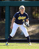 Michigan Wolverines Softball outfielder Brandi Virgil (2) during a game against the Bethune-Cookman on February 9, 2014 at the USF Softball Stadium in Tampa, Florida.  Michigan defeated Bethune-Cookman 12-1.  (Copyright Mike Janes Photography)