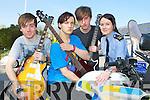 Talented Killarney musicians Bryan O'Doherty, Cieran O'Sullivan, Cieran McClure with Garda Diane Collins at  the Cultural open day in Killarney Garda station on Sunday....
