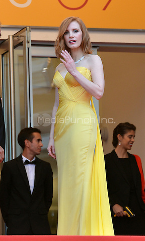 Jessica Chastain at &quot;Cafe Society&quot; &amp; Opening Gala arrivals - The 69th Annual Cannes Film Festival, France on May 11, 2016.<br /> CAP/LAF<br /> &copy;Lafitte/Capital Pictures /MediaPunch ***NORTH AND SOUTH AMERICAN SALES ONLY***