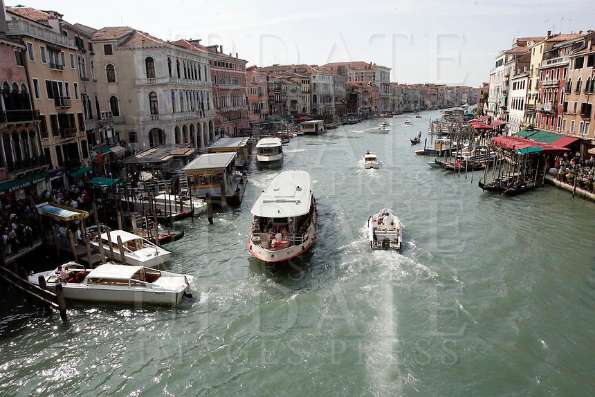 Una veduta del Canal Grande a Venezia.<br /> A view of the Grand Canal in Venice.<br /> UPDATE IMAGES PRESS/Riccardo De Luca