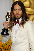 Jared Leto at the 86th Annual Academy Awards at the Dolby Theatre, Hollywood.<br /> March 2, 2014  Los Angeles, CA<br /> Picture: Paul Smith / Featureflash